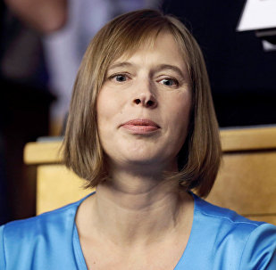 Igaunijas prezidente Kerste Kaljulaida. Foto no arhīva