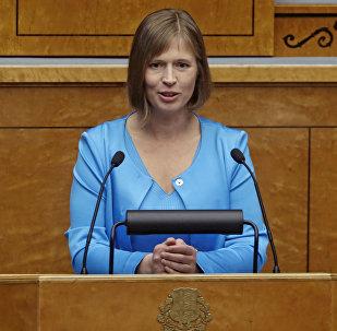 Igaunijas prezidente Kersti Kaljulaide.