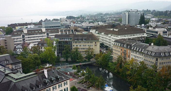 Šveices pilsētas Cīrihes ainava. Foto no arhīva