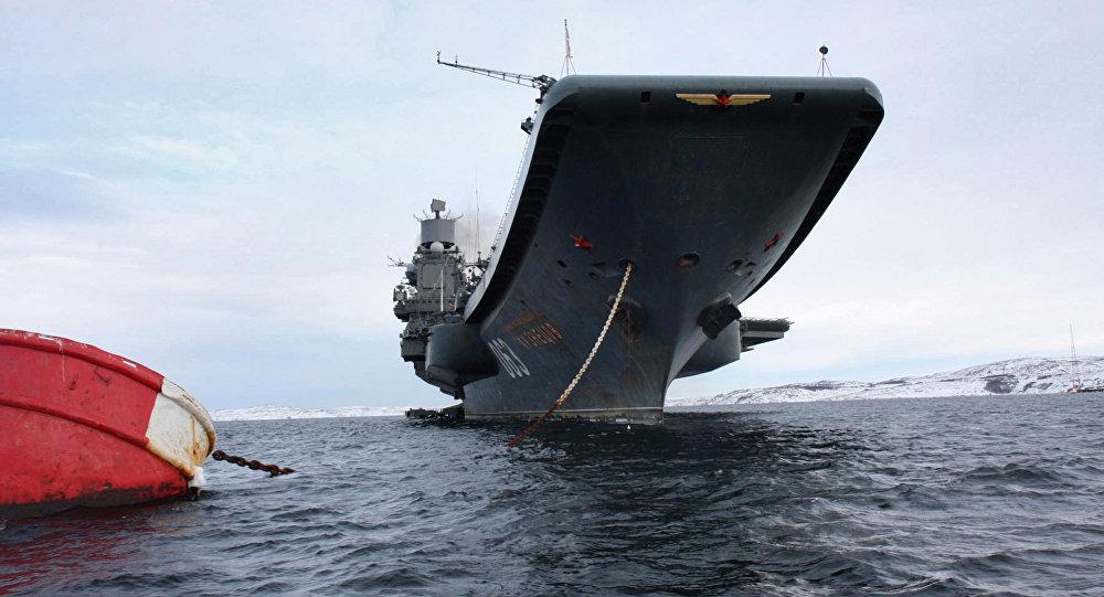 Aviācijas bāzes kuģis Admirālis Kuzņecovs.