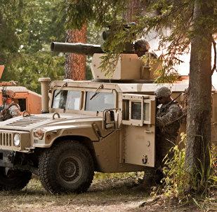 NATO militārā tehnika Tapas poligonā