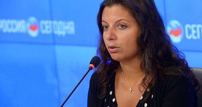 RT un Sputnik galvenā redaktore Margarita Simoņana