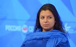 elekanāla RT un starptautiskās informācijas aģentūras Rossija Segodņa galvenā redaktore Margarita Simoņana