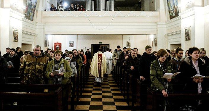Празднование католического Рождества. Архивное фото