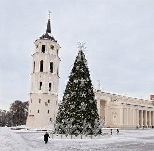 Вильнюс зимой, архивное фото