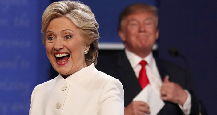 Donalds Tramps un Hilarija Klintone