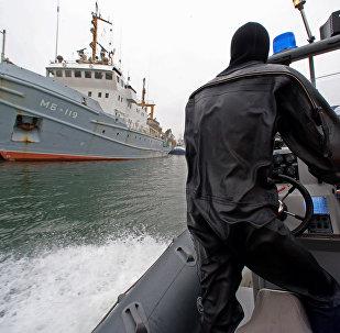 Baltijas jūras kara bāzes kaujas akvalangistu treniņi