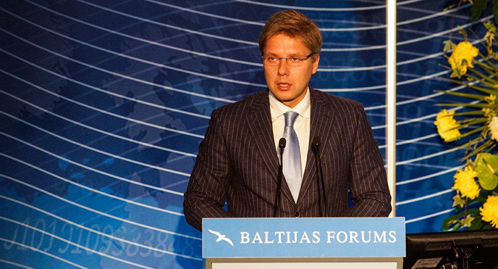 Председатель Рижской думы Нил Ушаков на открытии Балтийского форума