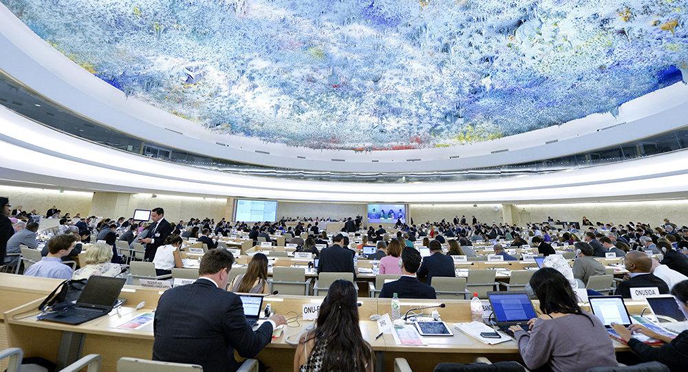 Архивное фото заседания совета ООН по правам человека