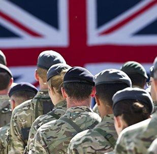 Британские военные, архивное фото