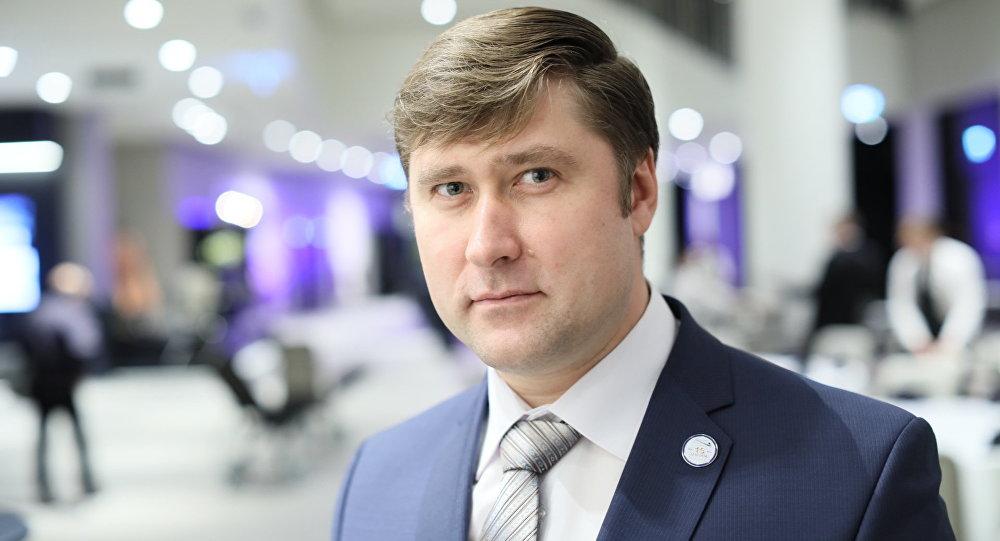 Глава  профсоюза железнодорожников Эстонии Олег Чубаров