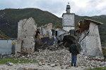 Последствия землетрясения в Италии, архивное фото
