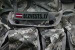 Нашивка на рюкзаке поисковой организации Bezvests.lv