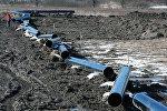 Строительство газопровода, архивное фото
