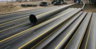 Укладка сетевого газопровода, архивное фото