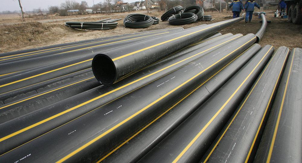 Укладка сетевого газопровода. Архивное фото