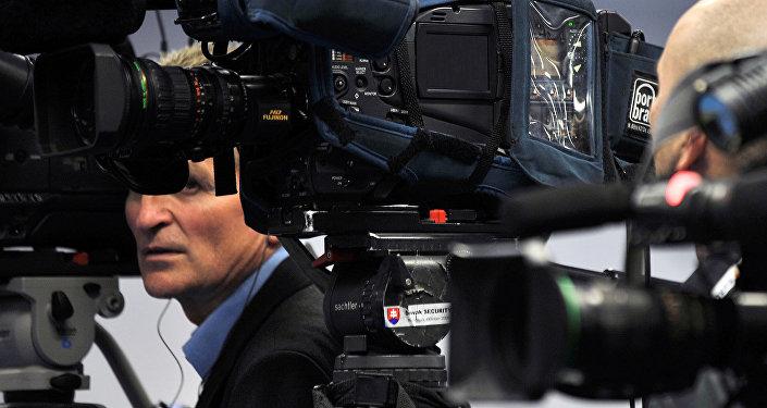 Žurnālisti. Foto no arhīva