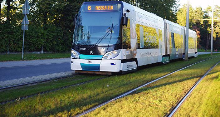Архивное фото рижского трамвая