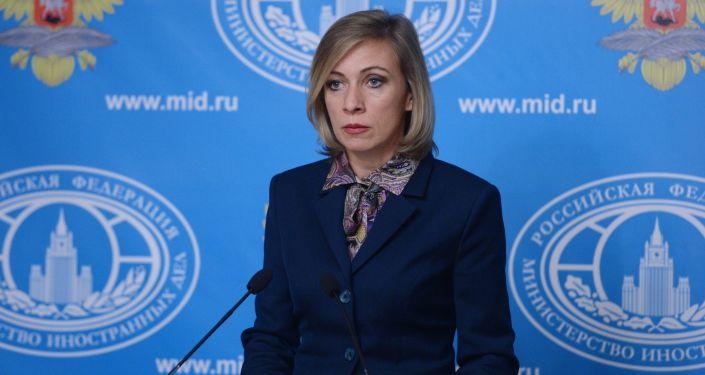 Krievijas ĀM oficiālā pārstāve Marija Zaharova