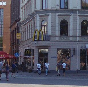 McDonalds в Риге на улице Калькю