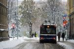 Снегопад в Риге