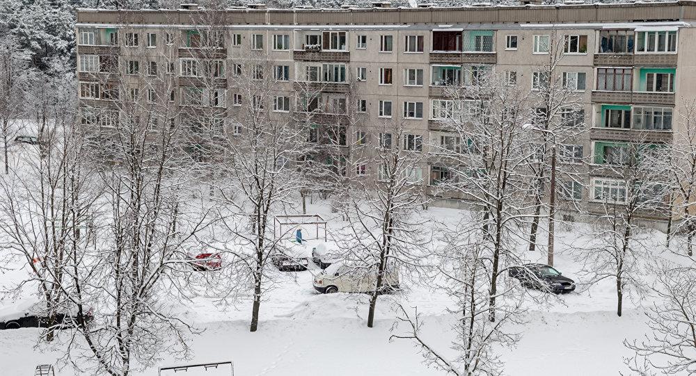 Снег в Риге Пурвциемс