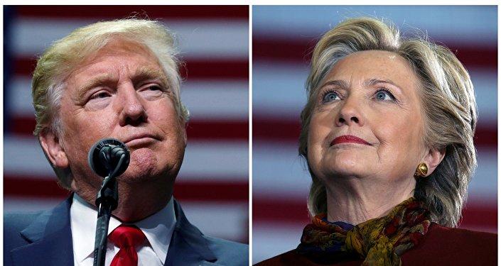 Кандидаты в президенты Дональд Трамп и Хиллари Клинтон