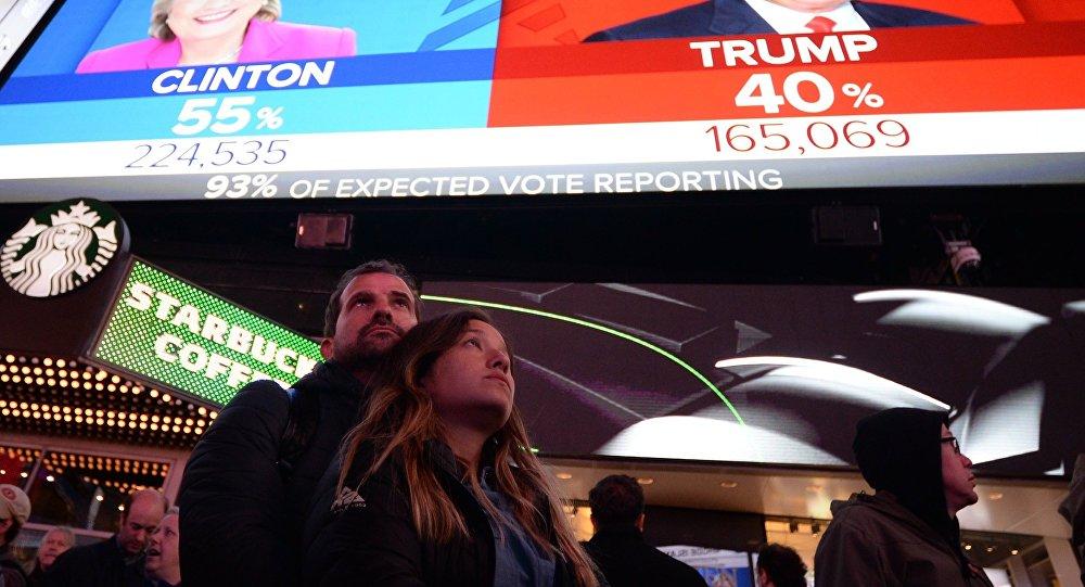 Iepriekšējie balsošanas rezultāti ASV prezidenta vēlēšanās. Foto no arhīva
