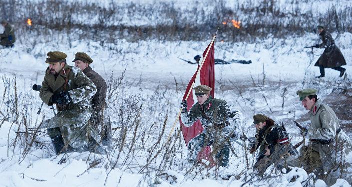 Реконструкция боёв за независимость Латвии 11 ноября 1919 года