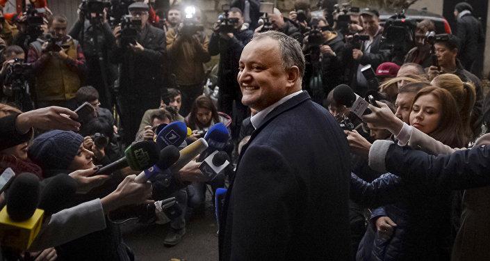 Избранный президент Молдавии от социалистов Игорь Додон, архивное фото