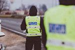 Архивное фото полицейских в Латвии