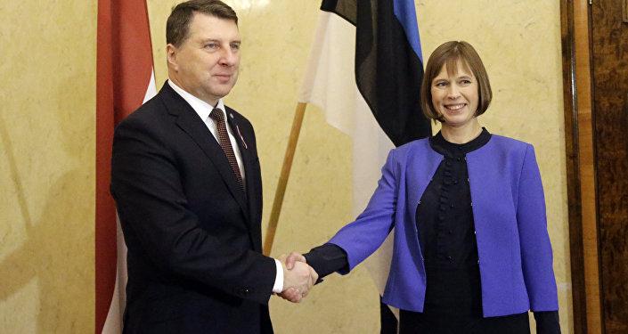 Latvijas un Igaunijas valstu vadītāji Raimonds Vējonis un Kersti Kaljulaide