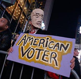Balsu skaitīšanas laikā Ņujorkā.