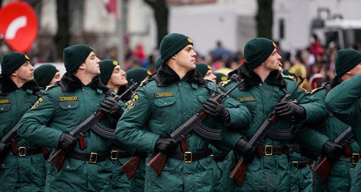 Военный парад посвящённый 98-й годовщины провозглашения Латвийской Республики