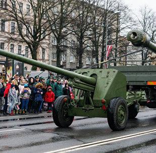 Военный парад в Риге, архивное фото