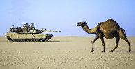 Tanks tuksnesī. Foto no arhīva