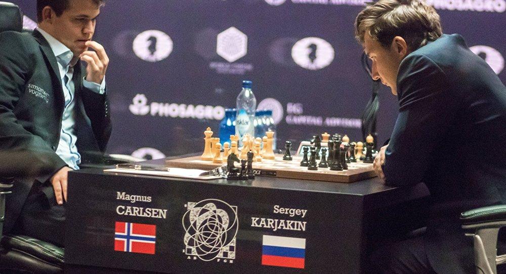 Šaha turnīrs par 2016. gada pasaules čempiona titulu. M.Karlsens pret S.Karjakinu