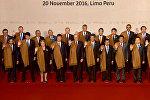 Лидеры стран АТЭС сфотографировались в перуанских накидках. Кадры церемонии