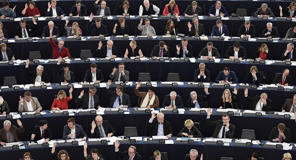 Eiropas Parlamenta sesija Strasbūrā. Foto no arhīva.