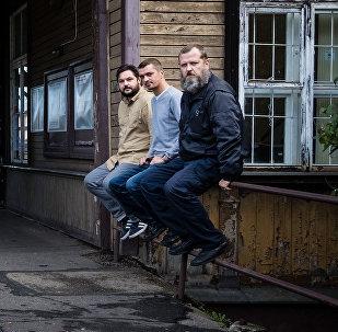 Valentīns Rožnecovs, Aleksejs Stetjuha un Roberts Vīlups (no kreisās uz labo)