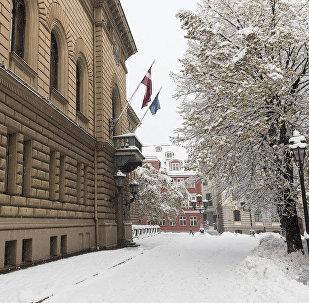 Latvijas Republikas Saeimas ēka. Foto no arhīva
