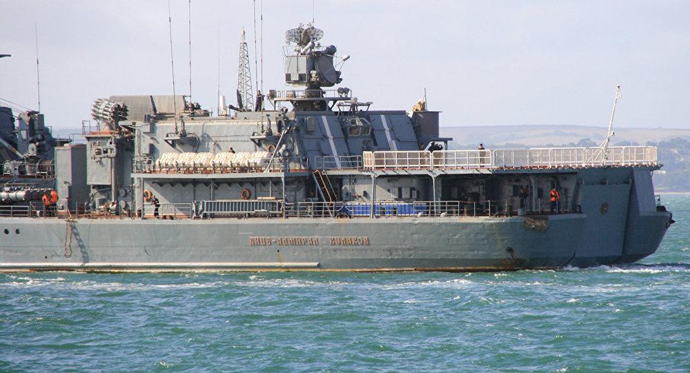 Krievijas kuģis Viceadmirālis Kulakov. Foto no arhīva