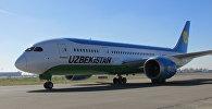 Узбекские авиалинии приняли в эксплуатацию еще один самолет Boeing 787-8 Dreamliner