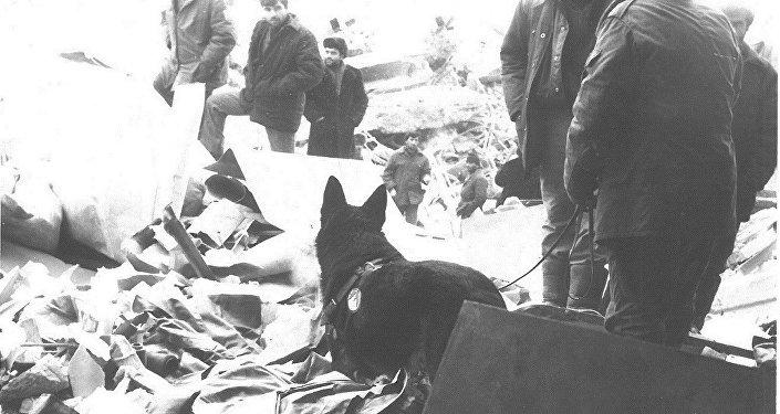 Город Спитак после землетрясения в 1988 году