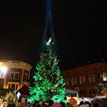 Новогодняя елка на Домской площади в Риге