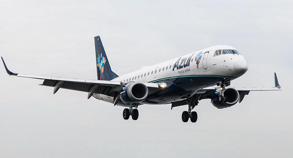 Brazīlijas aviolīnijas lidmašīna. Foto no arhīva