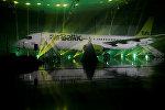 Презентация Bombardier CS300 для Латвийского национального авиаперевозчика airBaltic, архивное фото