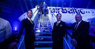 Презентация нового самолёта Bombardier CS300 авиакомпании airBaltic