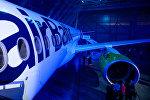 Презентация нового самолета Bombardier CS300 авиакомпании airBaltic
