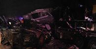 Кадры с места крупного ДТП в Югре, где погибли дети